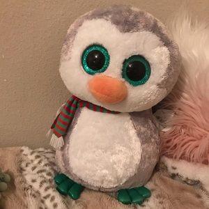 Giant Beanie boo Christmas penguin NWT